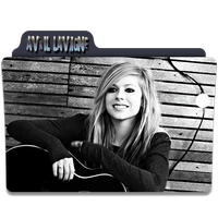 Avril Lavigne Folder Icon 4 by gterritory