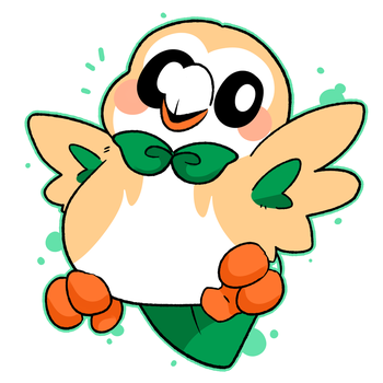 Rowlet by LexisSketches