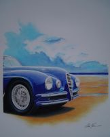 Alfa 6C at the sea by klem