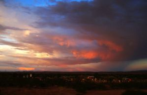 Sunset over Socorro by DVanDyk