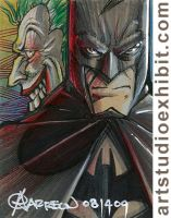 BATMAN and JOKER Sketch Card by artstudio