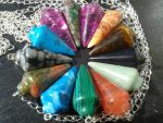 Mixed Stone Pendulums by TheMagickCats