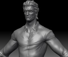 Clint Eastwood Sculpt WIP by FoxHound1984