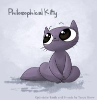 Philosophical Kitty by solray-chan