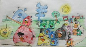 Angry Birds - Birds of a feather, flock together by AngryBirdsStuff