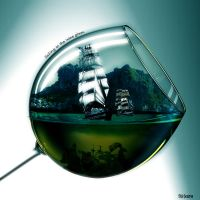 Sailing in the wine glass by soliter