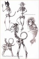 Kemonomimi skeletons by MissPinks