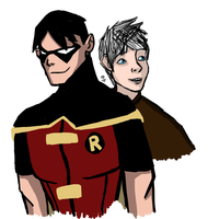Robin And Frost by InvisibleCorpseGirl