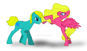 Dolph and Adrienne if in MLP by TwistedElagence
