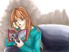 Reading Manga by just-one-more-freak