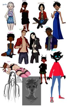 Mixed Characters(Sketch dump) by conoy17