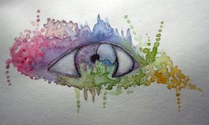 watercolour eye by mechta