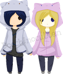 .:DOLL:. Fuck You, We're in Cat Hoodies.. by Bocchinocullen