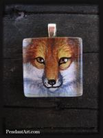 Red - Glass Pendant by thornwolf