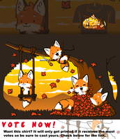 Woot Shirt - Fall Fox Fun by fablefire
