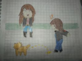 me and a friend by paty13