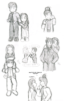 Doctor Who Sketches by tsukiflower
