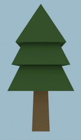 Low Poly Evergreen Tree by Zectric