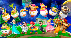 Super Smash Bros 4 Super Mario Bros. Wallpaper by Lucas-Zero