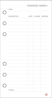 Free Planner Printable: Financial (Mar) by apparate