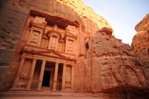 Petra at Dawn by drewhoshkiw