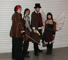 Steampunk group by ArcaneArchery