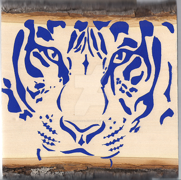 Tiger Stenciling by THEoriginalKID