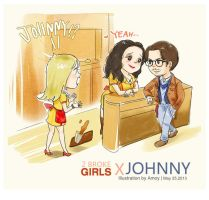 2013-5-25 2 Broke Girls x Johnny by amoykid