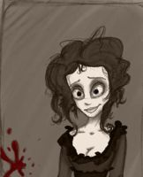 Mrs. Lovett doodle by Frankie-Freak3