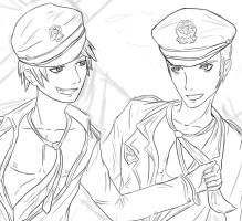 Black Police Germancest Sneak Peek WIP by patty110692