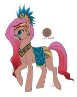 Aztec/Mayan Pony Concept by Lionel23