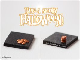 Miniature Pumpkin Cookies by Aiclay