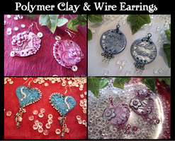 polymer clay earrings by Hyo-pon