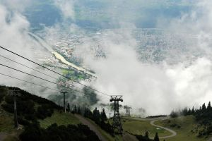 Innsbruck through clouds 1 by wildplaces