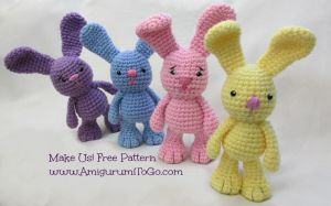 Free Bunny Crochet Pattern Video Tutorial by sojala