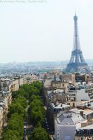 View of the Eiffel tower on the Arc de Triomphe by Cocotte-Vero91