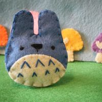 Mini Totoro Plush Blue by hellohappycrafts