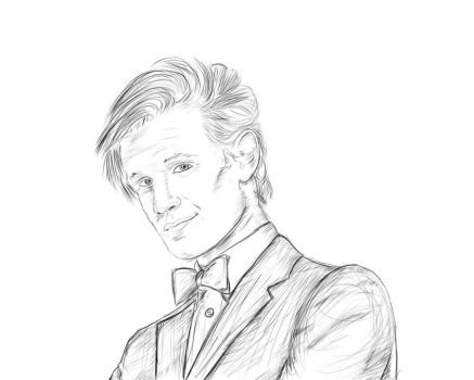 Matt Smith sketch by Orangebandguy