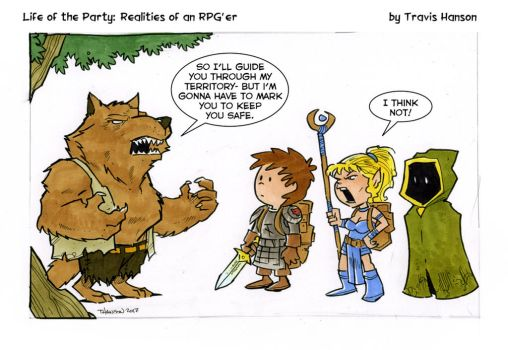 Werewolf guides.... rpg comic by travisJhanson