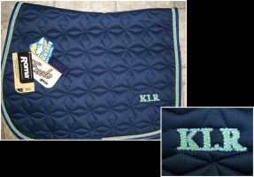 Personalized Saddle Pad by EnigmaticWriterGirl