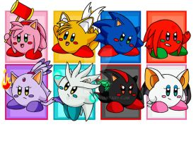 Sonic Kirbies by CyanSoul