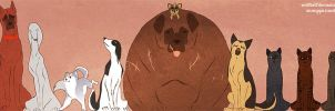 Japanese Bear Fighting Mutts by Stumppa