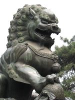 Chinese Male Lion Statue 01 by Ghost-Stock