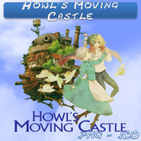 Howl's Moving Castle ICO & PNG by bryan1213