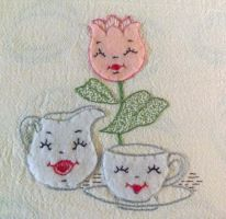 Vintage Embroidery Pattern by PixieFey