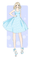 Dotted Floofy Sundress by Flurryfox