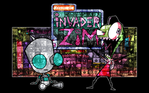 Invader Zim Mosaic WP by Bladez636
