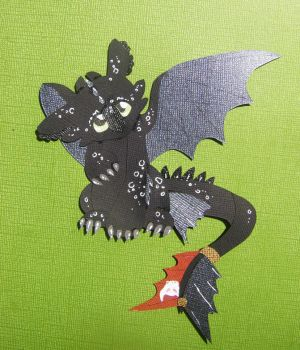 Baby Toothless Papercraft by StarDapple