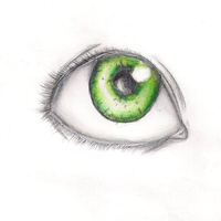 Green eye by firelight5