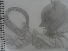 Bane vs Batman (The dark knight rises) by maalunin